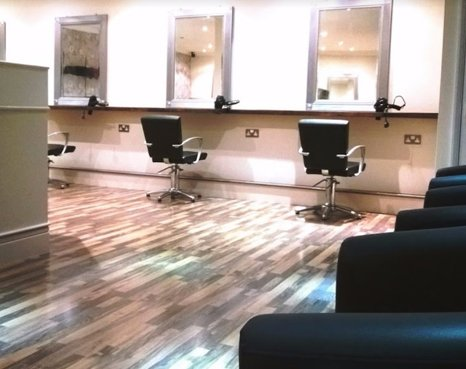 interior of a salon