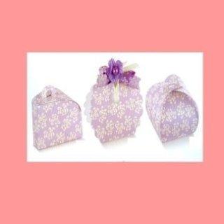 scatole di cartone decorate con fiori