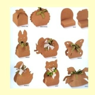 scatole di cartone forma animaletti