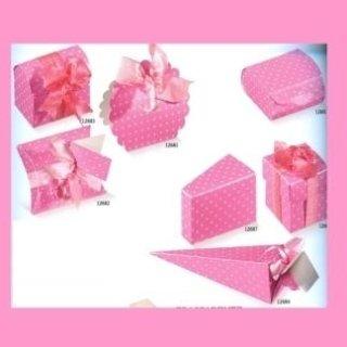 scatole di cartone vari formati rosa