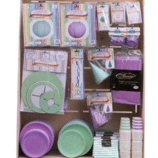 piatti e bicchieri lilla