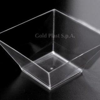 coppetta trasparente quadrata