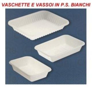 vassoi in plastica bianca