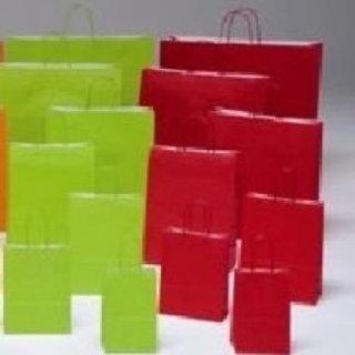 shopper di carta verde chiaro