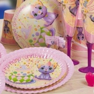piatti e bicchieri compleanno bimba