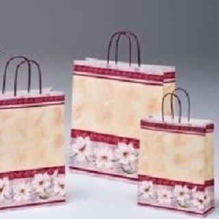 shopper di carta decorato con gigli