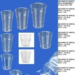bicchieri trasparenti kristal