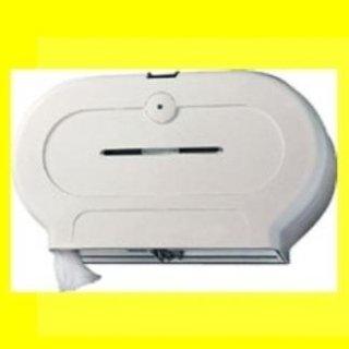 dispenser doppio carta igienica bianco