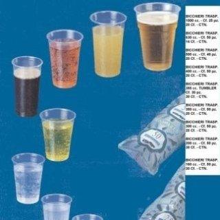 bicchieri trasparenti propilene