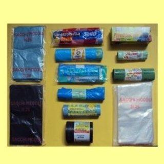 sacchetti per rifiuti a rotolo