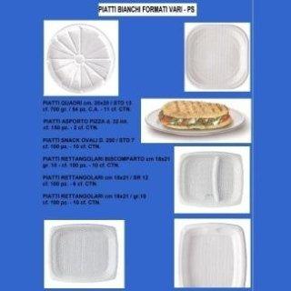 piatti bianchi a formati vari