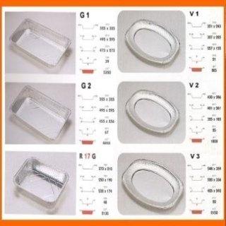 vassoi in alluminio monouso