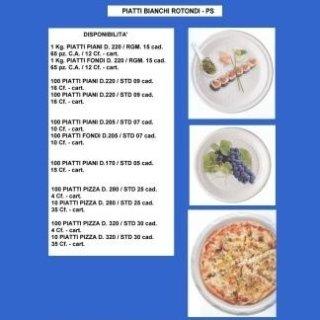 piatti bianchi rotondi