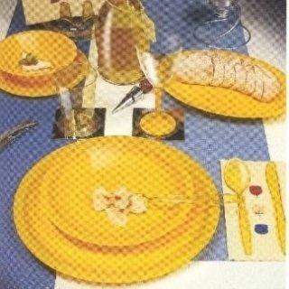 piatti monouso gialli