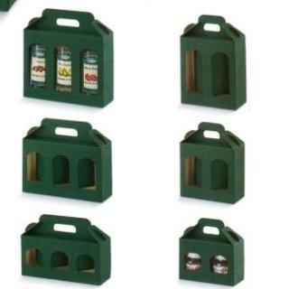 scatole portavasetti verdi