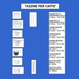 tazzine per caffè e bevande