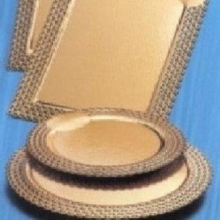 pizzi in cartoncino laminato oro per torte