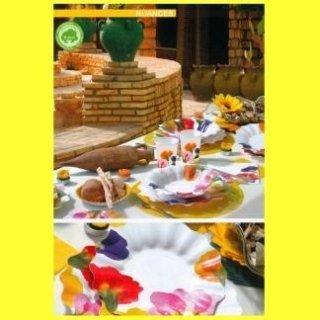 piatti monouso fantasia floreale