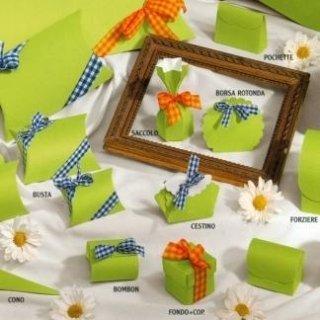 scatole di cartone verdino