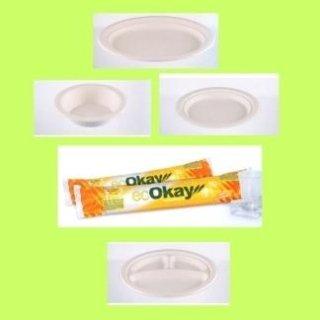 piatti di cartoncino bianchi