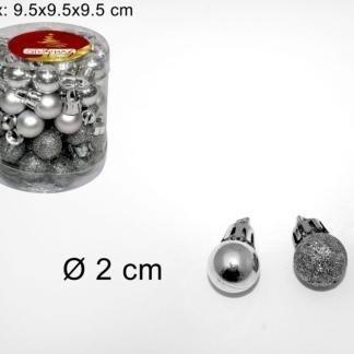 sfere argento per alberi di natale