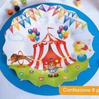piatti ebicchieri tema Circo