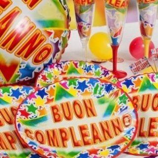 stoviglie monouso compleanno
