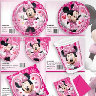 piatti di carta Minnie