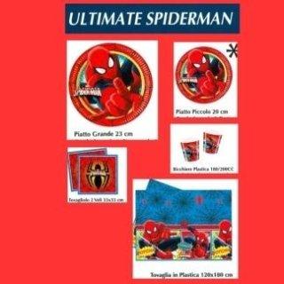 piatti e bicchieri spiderman