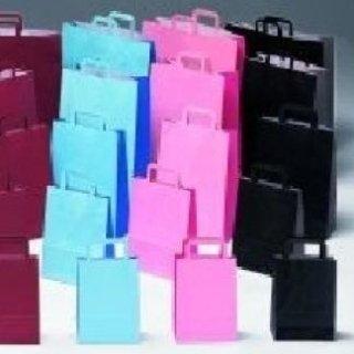 borse di carta bicolore