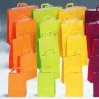 borse di carta gialle