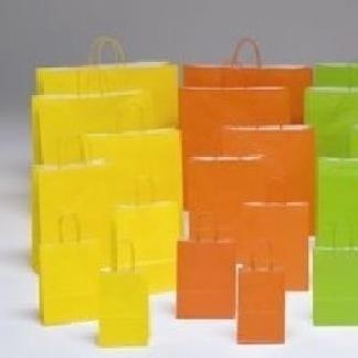shopper in carta arancione
