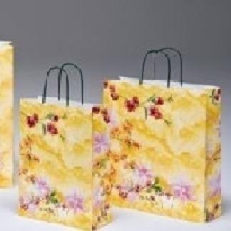 borsa di carta fantasia fiori di pesco