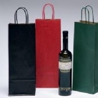 borse di carta colorati per vino