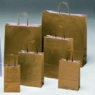borse di carta oro