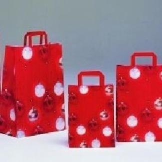 borse di carta con fantasie natalizie
