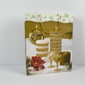 borse di carta con tema natalizio