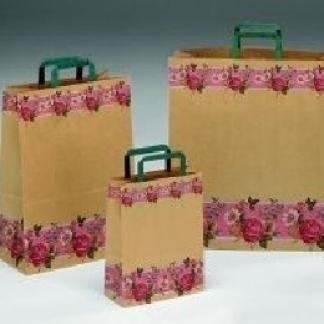 shoppers in carta decorate con fiori