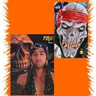 Maschere horror e bandane pirata