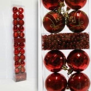 palle di natale rosse