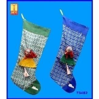 calza befana tessuto quadretti