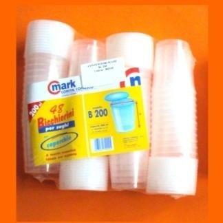 bicchieri trasparenti per sughi