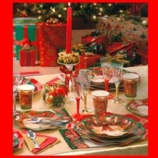 piatti e bicchieri natale monouso