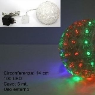 sfera luminosa colorata