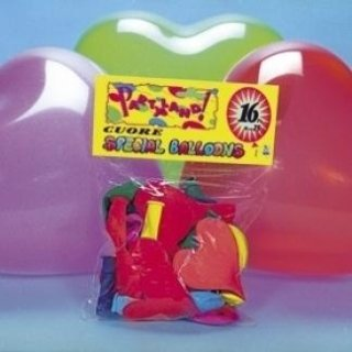 Palloncini a forma di cuore colori assortiti