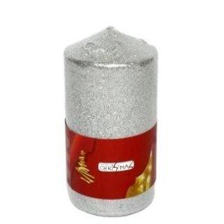 candela di natale grossa argento
