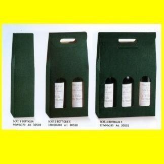 scatole porta vino verde