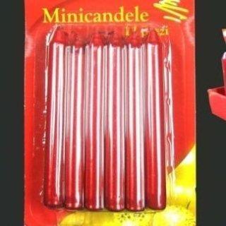 minicandele rosse