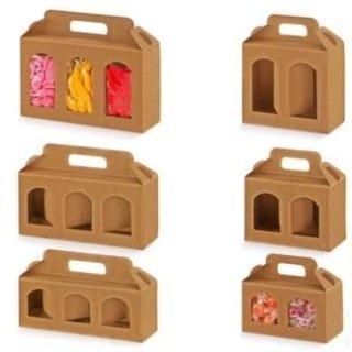 scatole portavasetti colore neutro