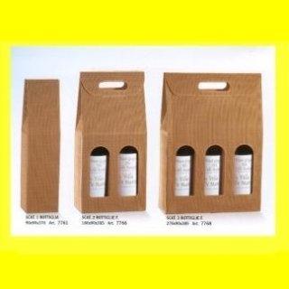 scatole portabottiglie avana